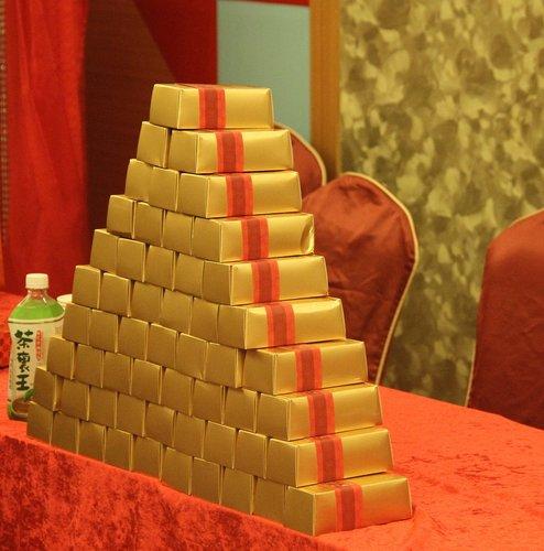 [幸福久久久婚禮小物]婚禮小物推薦,新人分享黃金富貴囍米婚禮小物2