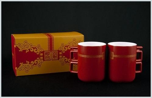 [幸福久久久]婚禮小物☆台灣設計師系列--百年好合馬克杯
