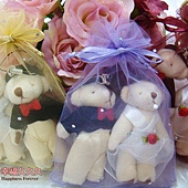 [幸福久久久]㊣版大款結婚對熊一對30元~送紗袋