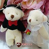[幸福久久久]㊣版大款結婚對熊一對30元~送紗袋2