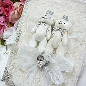 幸福久久久]晶鑽皇冠熊結婚證書