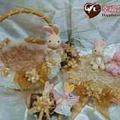 [幸福久久久]幸福兔喜糖籃4件組