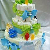 [幸福久久久]繽紛寶寶尿布蛋糕