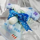 粉Q寶寶機車造型尿布蛋糕2