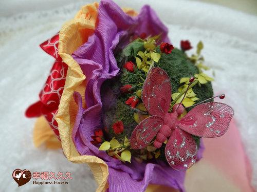 幸福久久久婚禮小物--婚禮小物之花椰菜捧花2