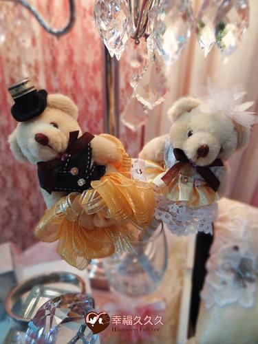 幸福久久久婚禮小物--婚禮小物之手工泰迪熊精緻簽名筆 2