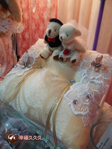 幸福久久久婚禮小物--婚禮小物之精緻歐風手工戒枕 2