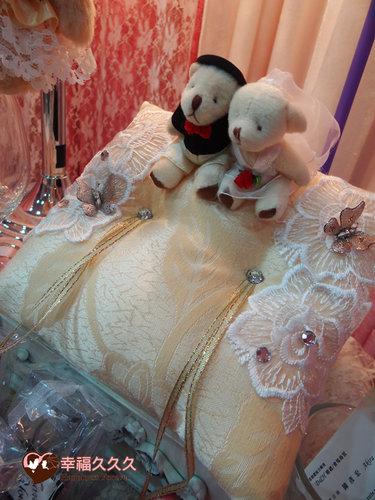 幸福久久久婚禮小物--婚禮小物之精緻歐風手工戒枕