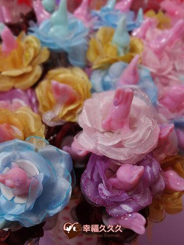 幸福久久久婚禮小物--婚禮小物之愛情兔手工香皂金莎花