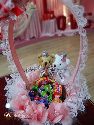 幸福久久久婚禮小物--婚禮小物之皇冠熊精緻花童籃2