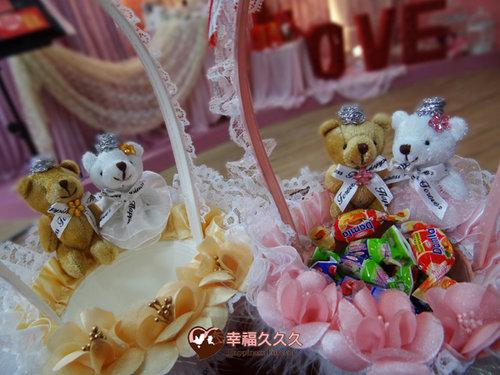 幸福久久久婚禮小物--婚禮小物之皇冠熊精緻花童籃