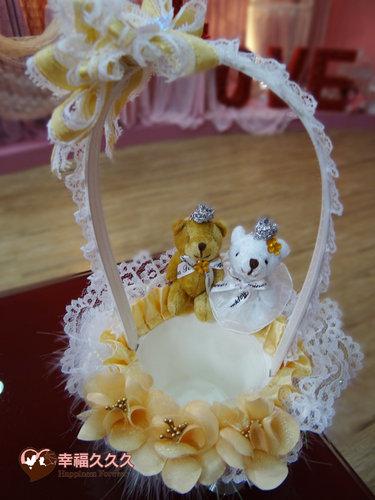 幸福久久久婚禮小物--婚禮小物之皇冠熊精緻花童籃3