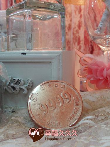 幸福久久久婚禮小物--婚禮小物之金幣久久久手工香皂2