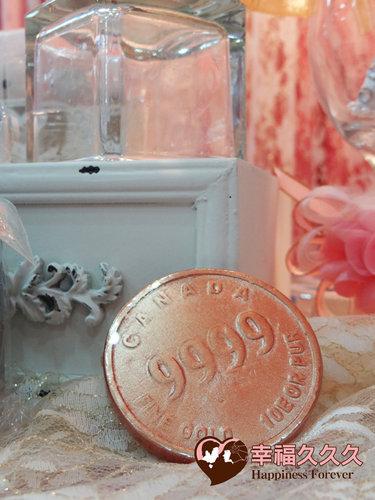 幸福久久久婚禮小物--婚禮小物之金幣久久久手工香皂