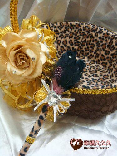 幸福久久久婚禮小物--婚禮小物之豹紋風喜糖籃01