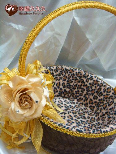 幸福久久久婚禮小物--婚禮小物之豹紋風喜糖籃03