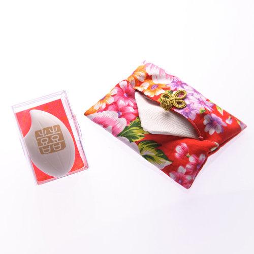 幸福久久久婚禮小物--婚禮小物之手工牡丹花布面紙套