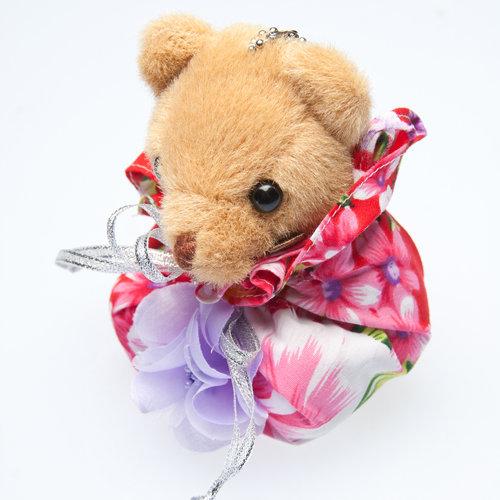 幸福久久久婚禮小物--婚禮小物之手工牡丹花布福袋熊02