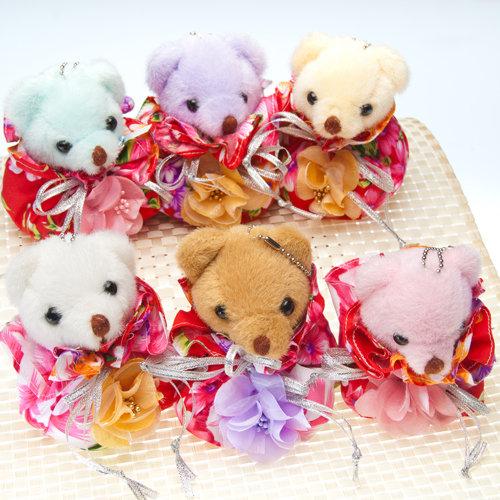 幸福久久久婚禮小物--婚禮小物之手工牡丹花布福袋熊01