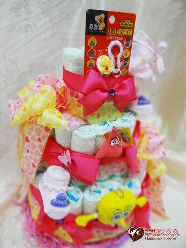 幸福久久久婚禮小物--婚禮小物之創意造型尿布蛋糕02