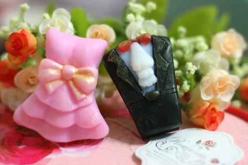 幸福久久久婚禮小物--婚禮小物之新人造型手工皂禮盒組