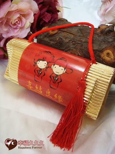 幸福久久久婚禮小物--婚禮小物之300公克金喜手提米02