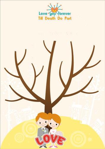 幸福久久久婚禮小物--婚禮小物之獨家版指紋樹01