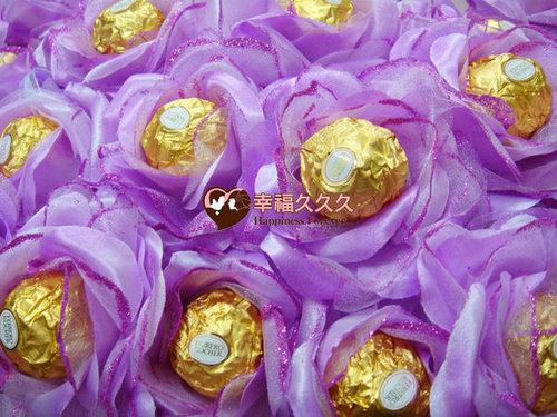 幸福久久久婚禮小物--婚禮小物之豪華玫瑰金莎巧克力花棒04