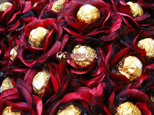 幸福久久久婚禮小物--婚禮小物之豪華玫瑰金莎巧克力花棒02