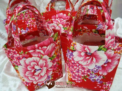 幸福久久久婚禮小物--婚禮小物之手工車縫手提袋01