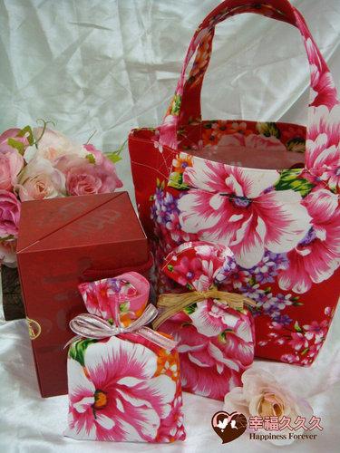 幸福久久久婚禮小物--婚禮小物之手工車縫手提袋04