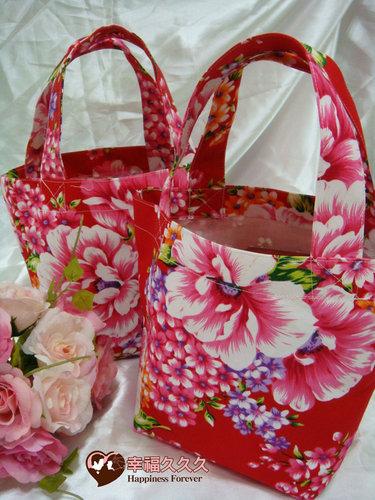 幸福久久久婚禮小物--婚禮小物之手工車縫手提袋03