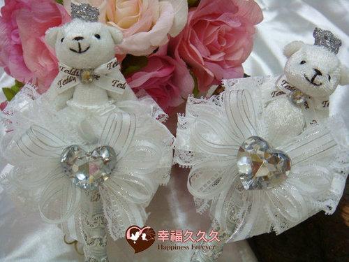 幸福久久久婚禮小物--婚禮小物之晶鑽皇冠熊手工簽名筆01