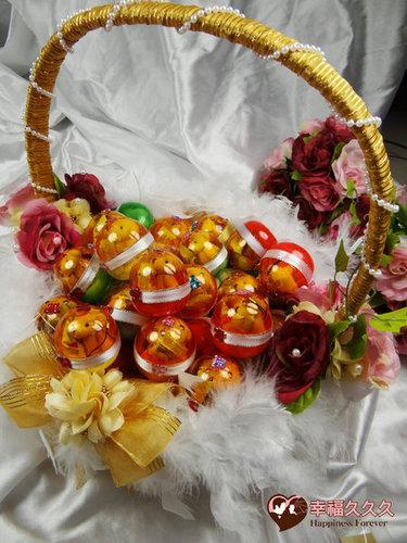 幸福久久久婚禮小物--婚禮小物之四色熊扭蛋喜糖01