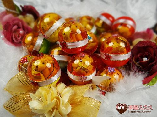 幸福久久久婚禮小物--婚禮小物之四色熊扭蛋喜糖03