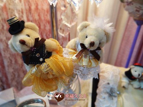 幸福久久久婚禮小物--婚禮小物之手工泰迪熊精緻簽名筆01