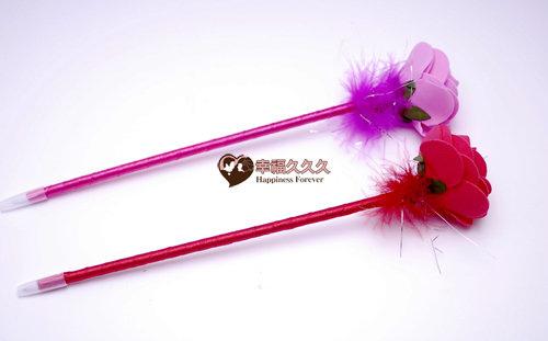 單朵玫瑰原子筆二次進場婚禮小物1.jpg