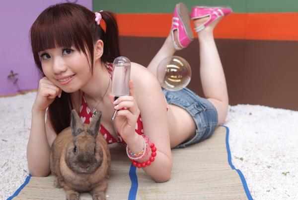 兔兔看起來一臉囧+QQ