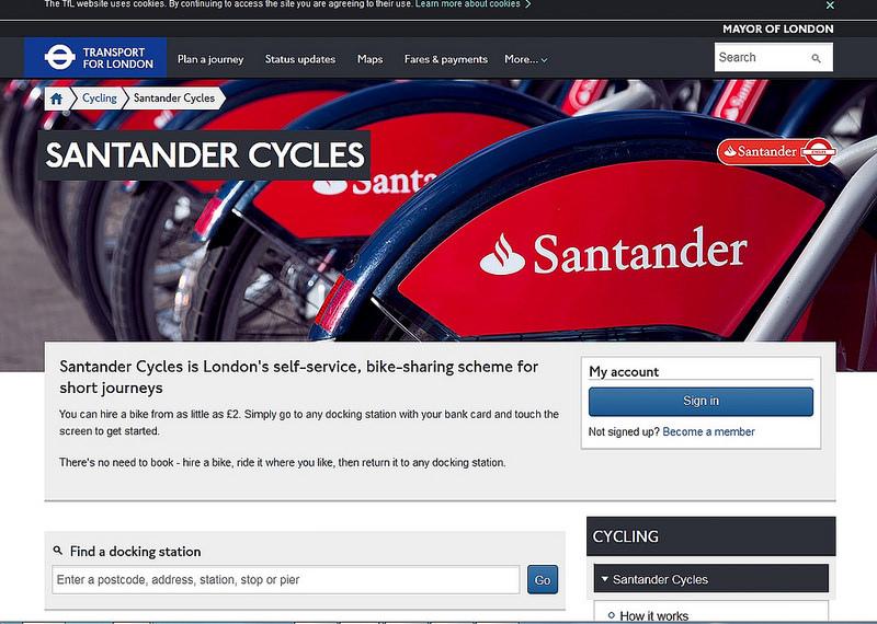 英國自行車Santander_Cycles