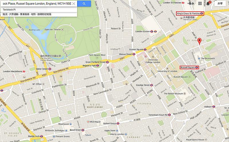 倫敦 Generator 旅社-7-MAP