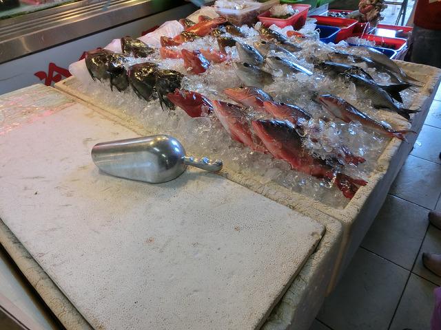 墾丁。後壁湖生魚片。