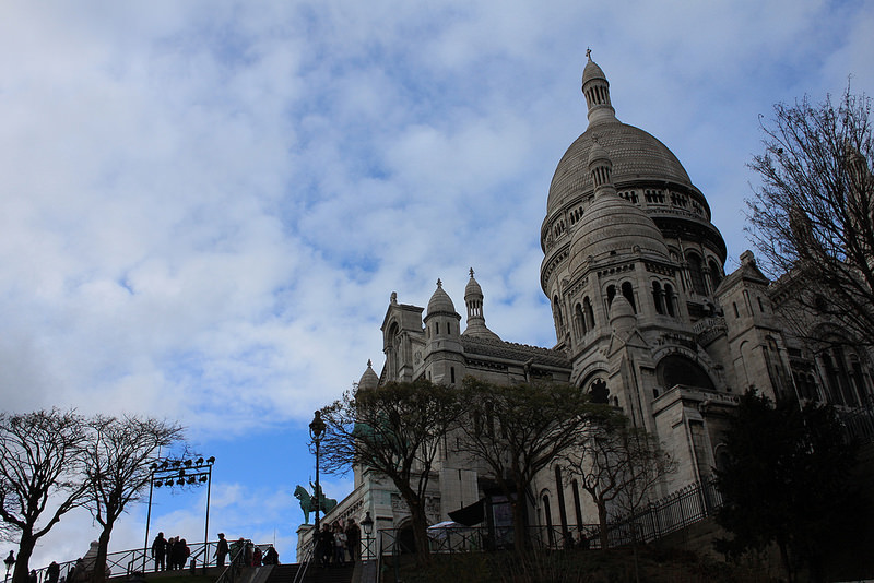 巴黎蒙馬特高地~聖心堂-17度C用中文遊巴黎。 (1)