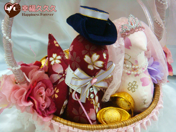 日本櫻花帶路雞婚禮小物