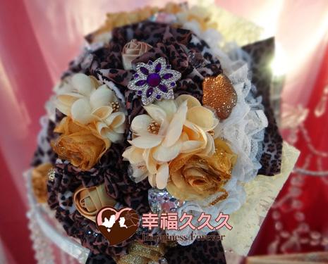 豹紋珠寶捧花婚禮小物1