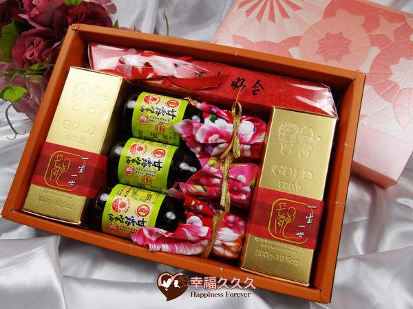 豪華黃金喜米喝茶禮盒婚禮小物