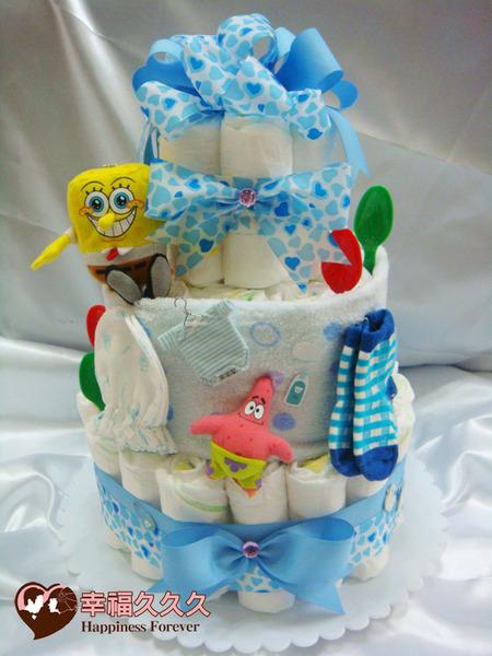 尿布蛋糕-海綿寶寶