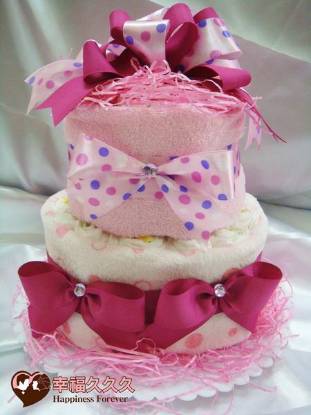 尿布蛋糕-草莓海綿