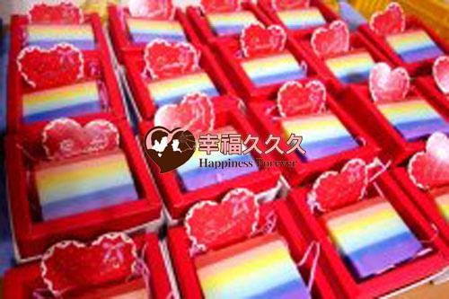 彩虹香皂婚禮小物3