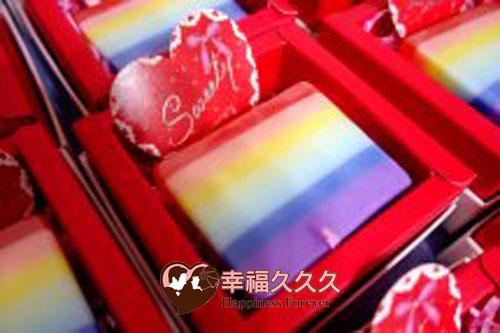 彩虹香皂婚禮小物2