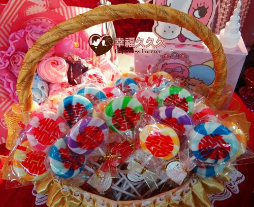 囍旋風棒棒糖婚禮小物3